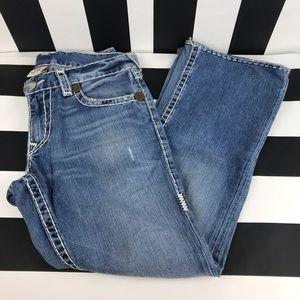 True Religion Billy Super T Straight Leg Jeans